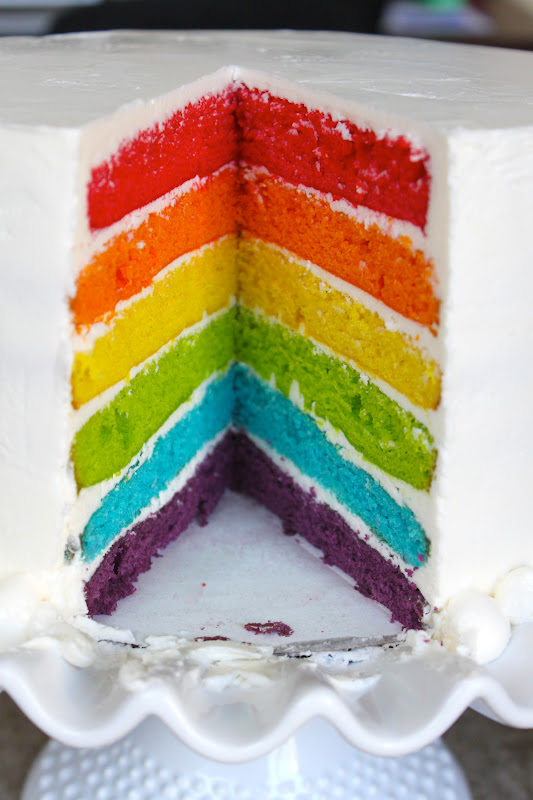 Rainbow Cake- The Little Epicurean
