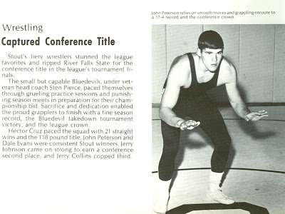 Wrestling Captures Conference Title, Tower Yearbook, 1970