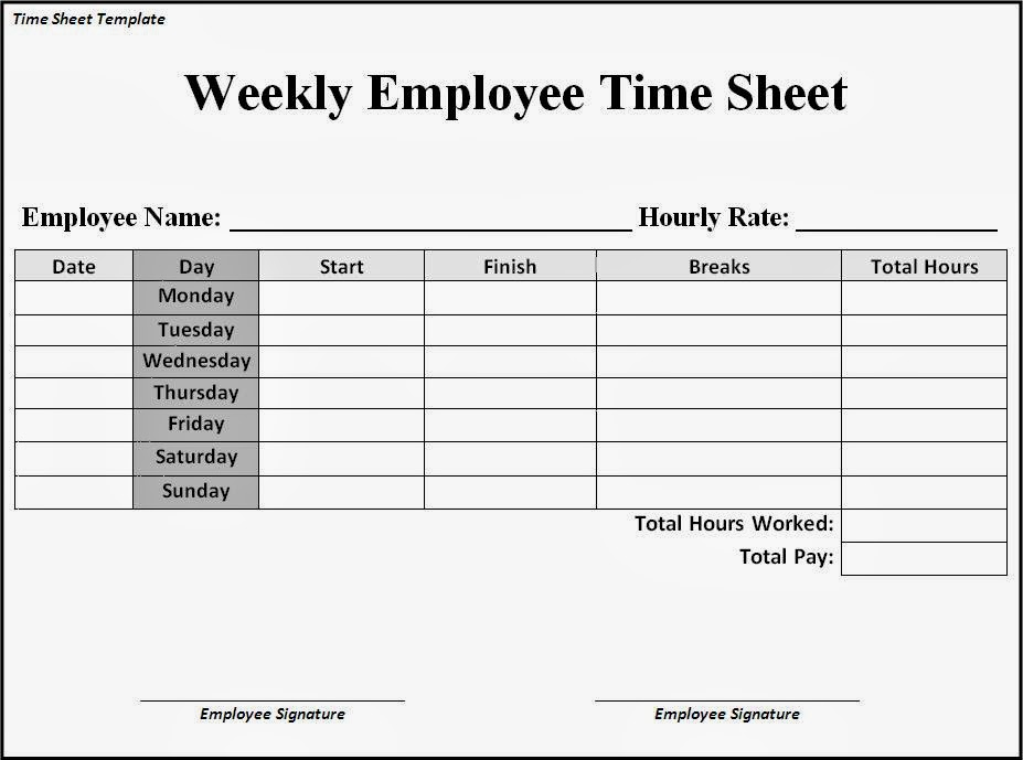 word timetable template