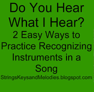 instruments, orchestra, listening skills, follow instruments in a song, music, children's music, music games