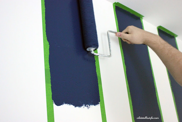 DIY How-To Paint Stripes