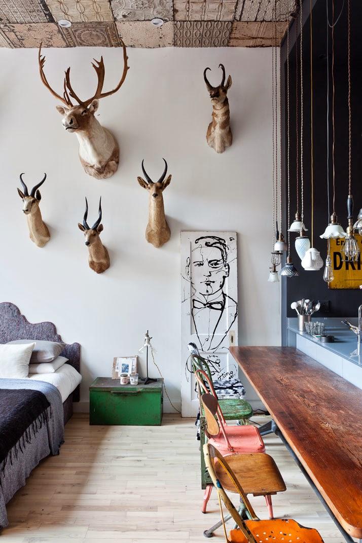 Flohmarkt-Stil in Chelsea Wohnung - unkompliziert Wohnen und Leben in Shabby Chic Design