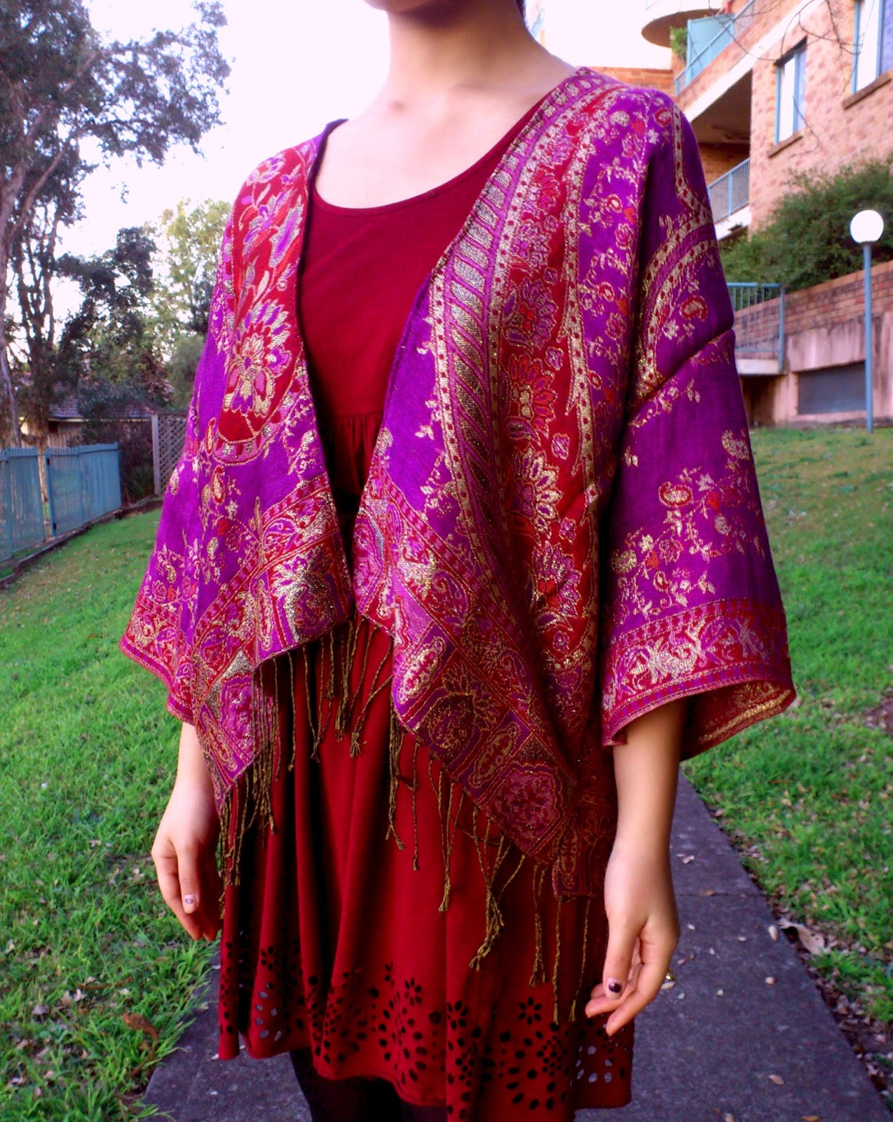 DIY Scarf to Kimono