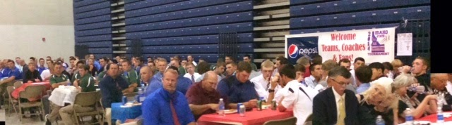 Teams enjoy the banquet at the LCSC Activity Center