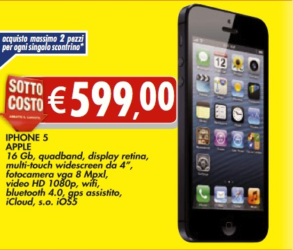 Bennet propone lo smartphone top di gamma di Apple a meno di 600 euro