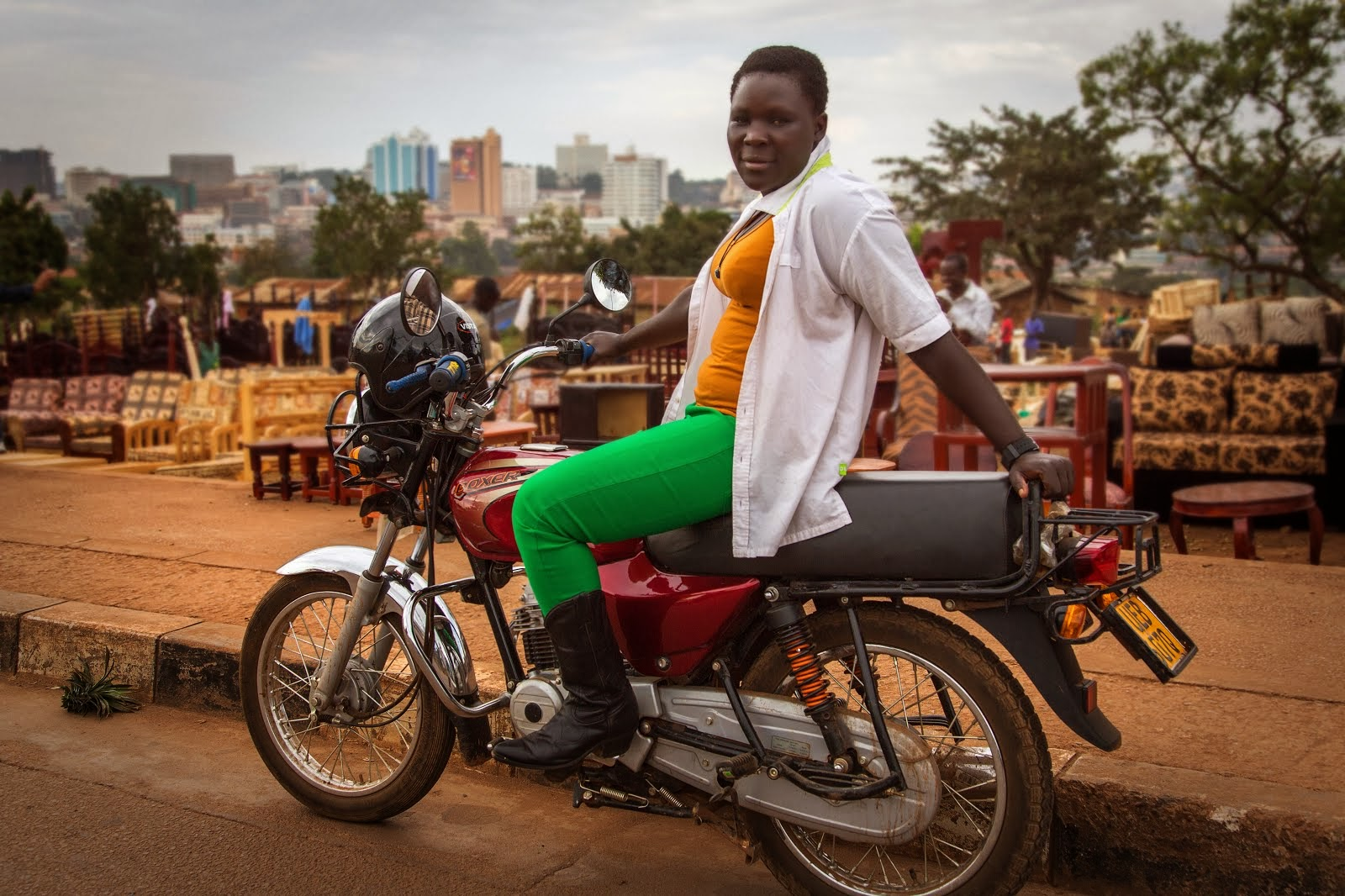 Kampala's first female boda driver, Naume Awero. Click on the pic to read more about her.