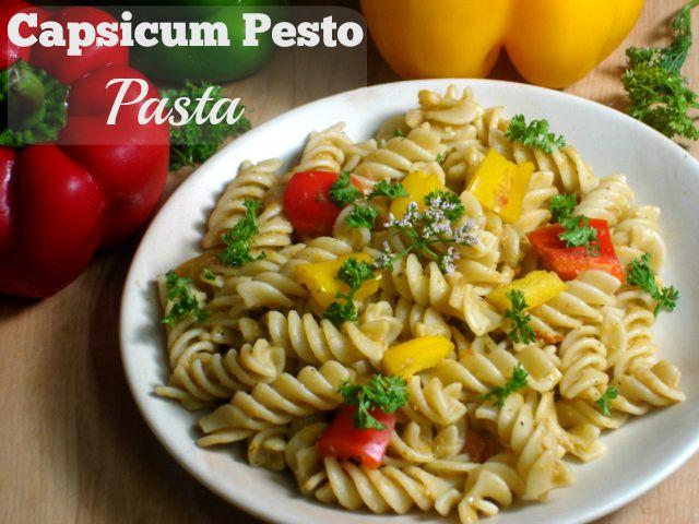 Capsicum Pesto Pasta (Vegan)
