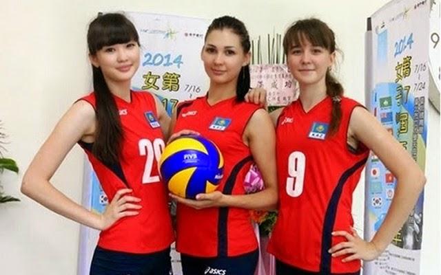 Foto Pemain Voli Cantik Asal Kazakhstan, Sabina ...