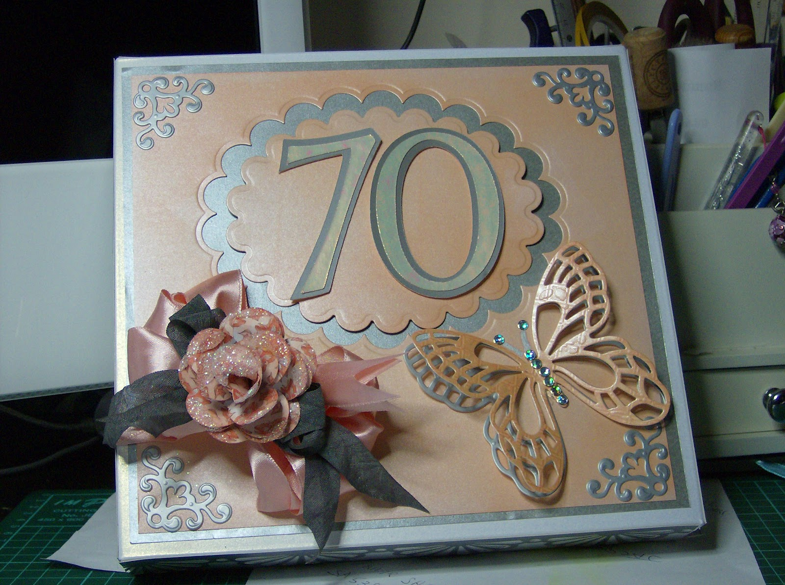 CARDSARUS 70th BIRTHDAY CARD AND BOX – Pre Made Birthday Cards