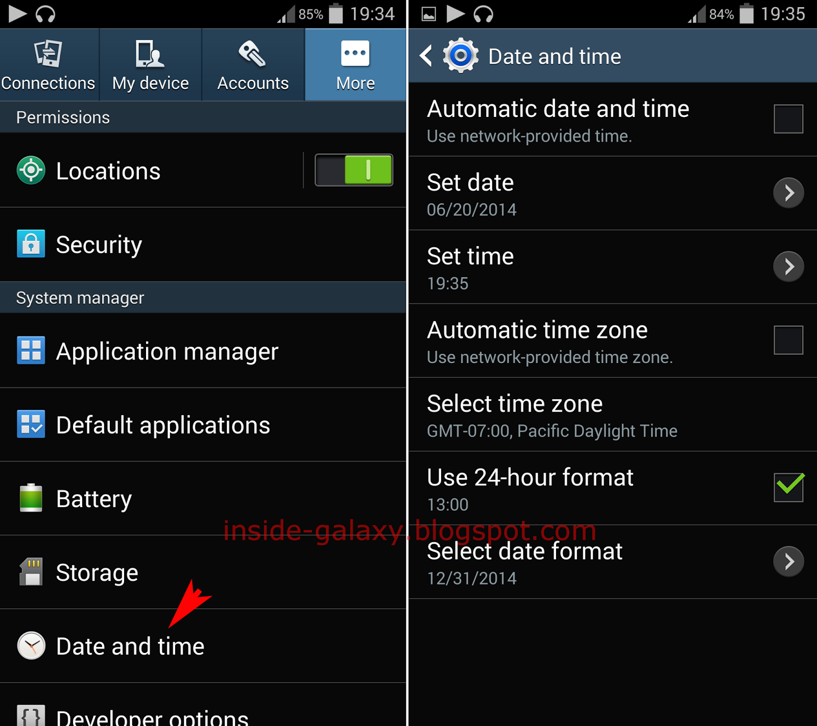 how to change image format on android