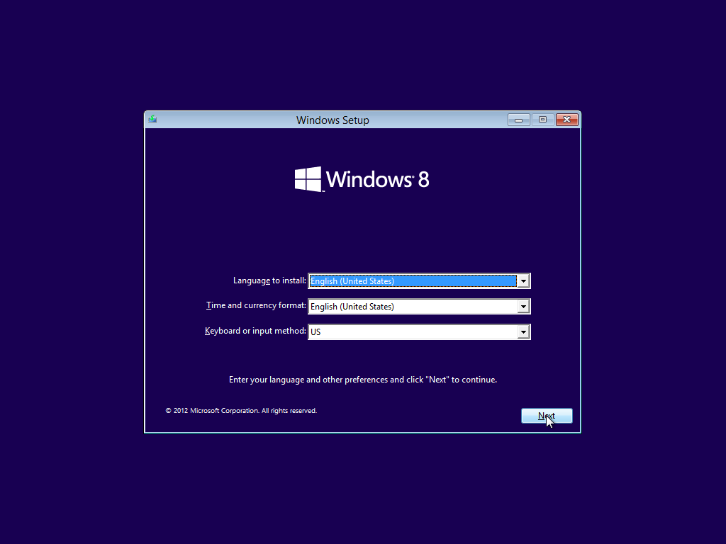 Windows 8 PRO VL (32 & 64 Bit) Installing version