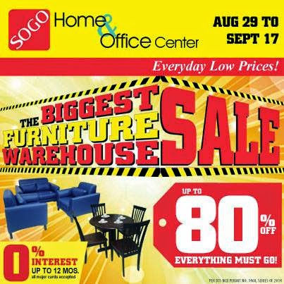 Manila Shopper Sogo Biggest Furniture Warehouse Sale Aug Sept 2014