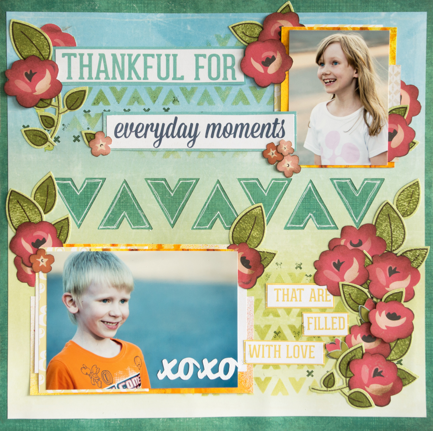 Layout using Creative Scrappers sketch #276: Thankful for everyday moments