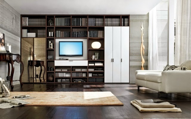 living room bookcases bookshelves with wardrobe by santa lucia - Bookshelves Living Room