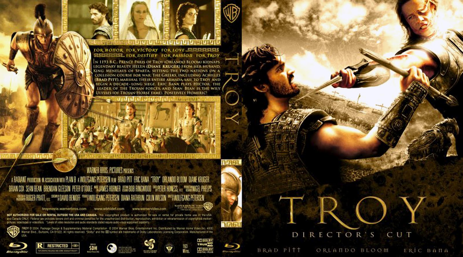 Troy Director's Cut Dvd Cover