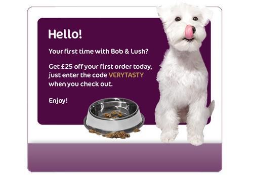 Amostra Gratis Ração para Cães da Bob & Lush
