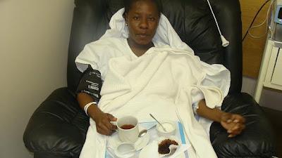 Judith Wambura Mbibo 'Jaydee' akiwa hospitalini jijini Paris