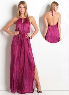 vestido longo com paetês rosa - look para virada do ano