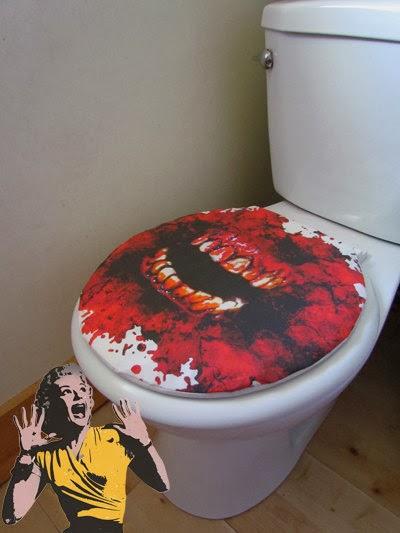 To da loos zombie halloween bathroom accessories for Zombie bathroom decor