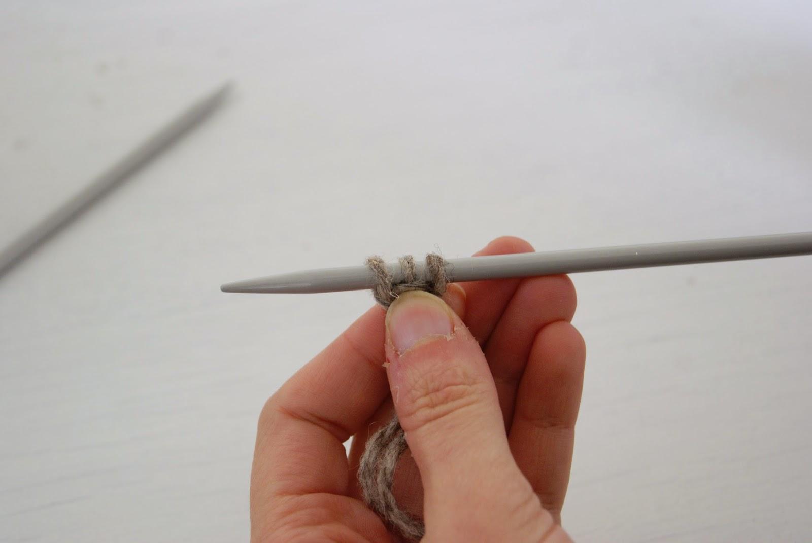 tricoter un cordon i-cord, première étape