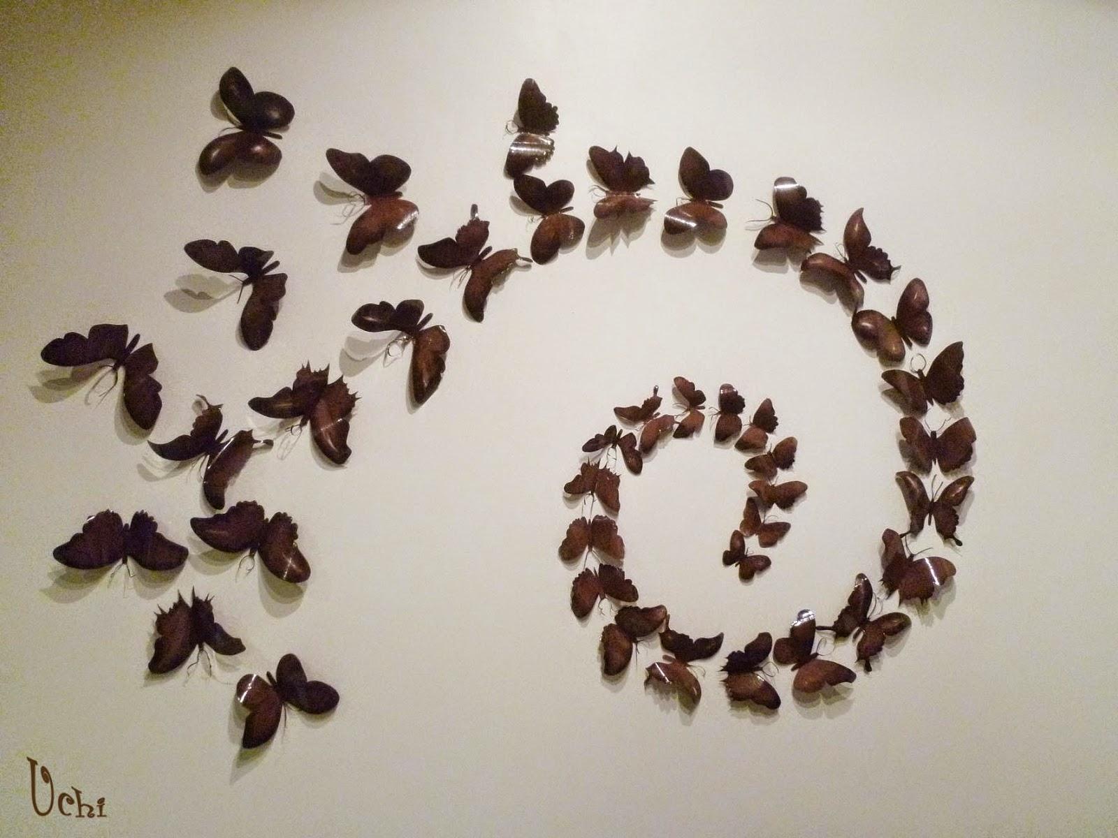 Pared con mariposas uchi - Mariposas en la pared ...