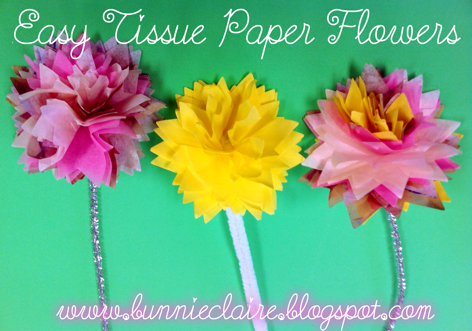 How To Tissue Paper Flower