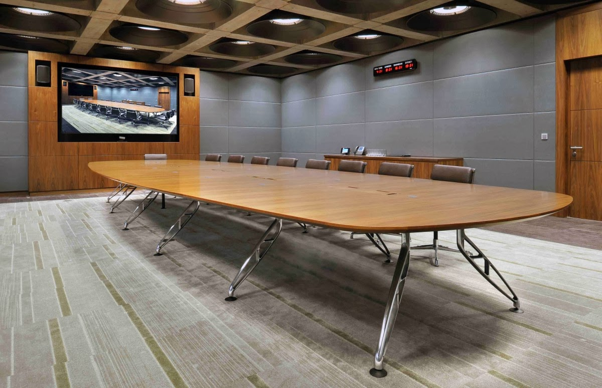Talk About Chair - Oval glass conference table