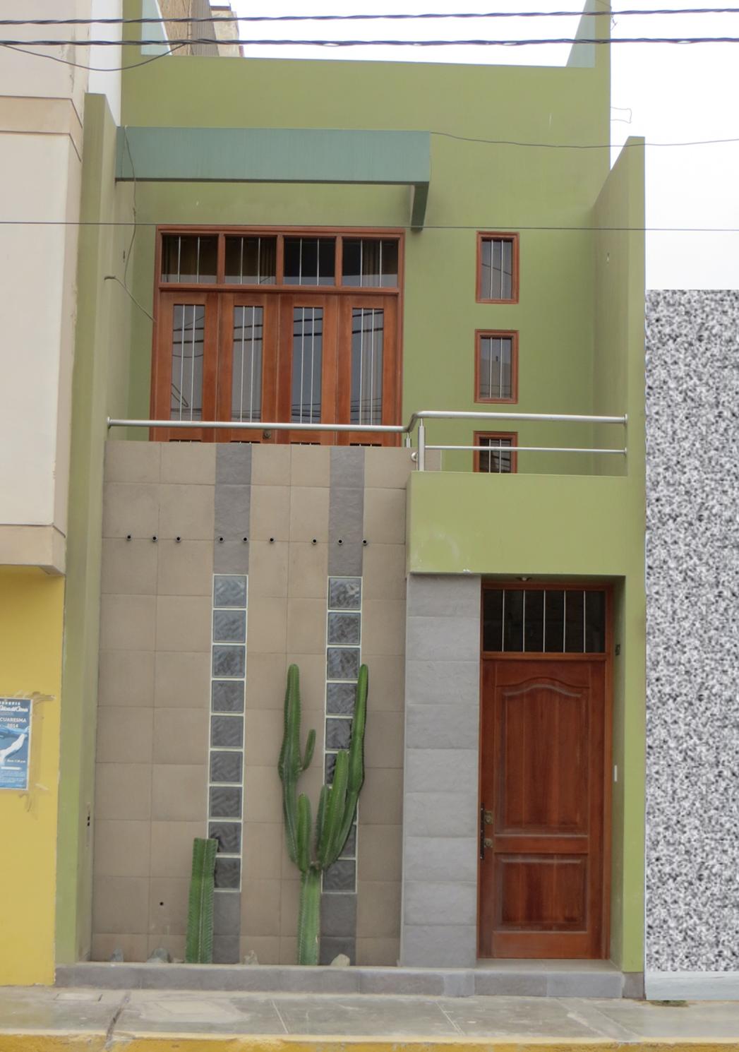 Fachadas de casas bonitas casa de 3 5 metros de frente for Fachadas de frente de casas