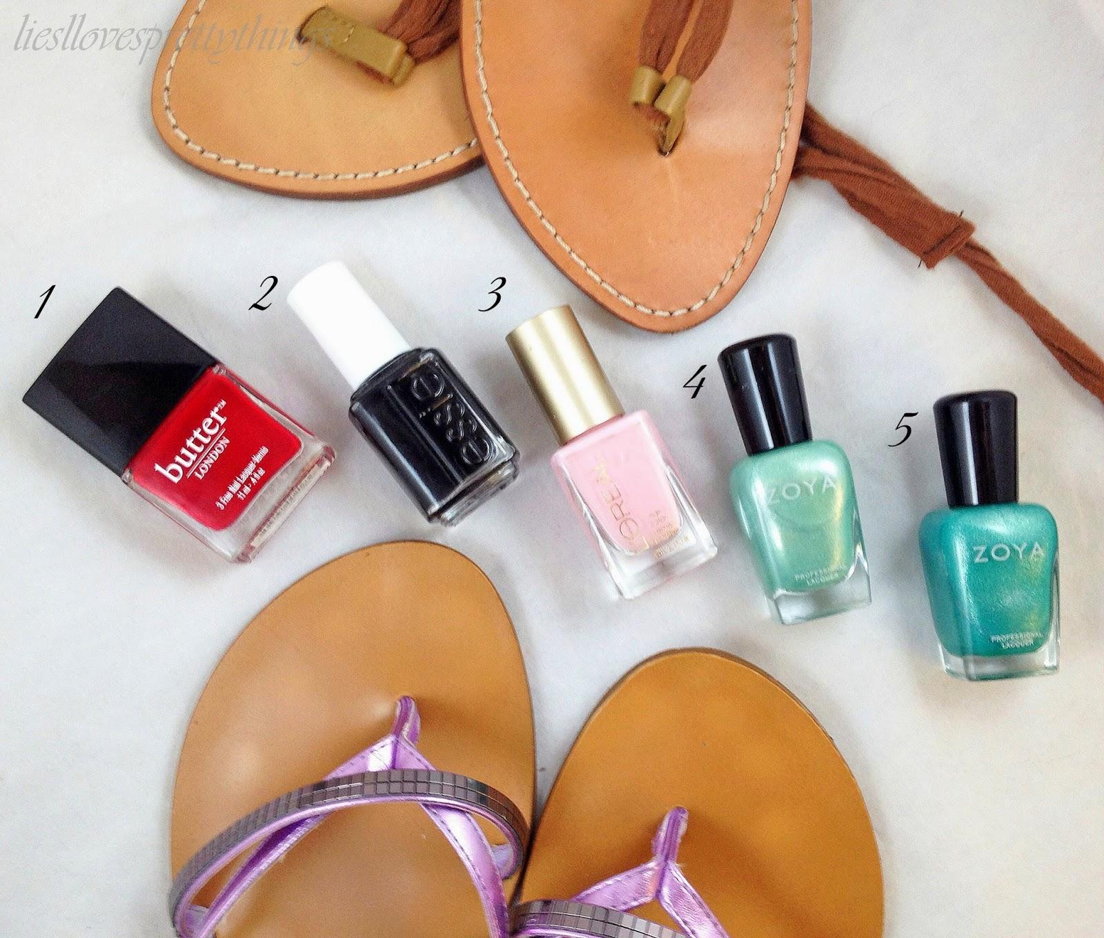Liesl Loves Pretty Things: My Favorite Summer Pedicure Colors