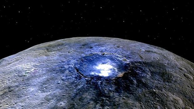 Explican el origen de los puntos brillantes en Ceres.