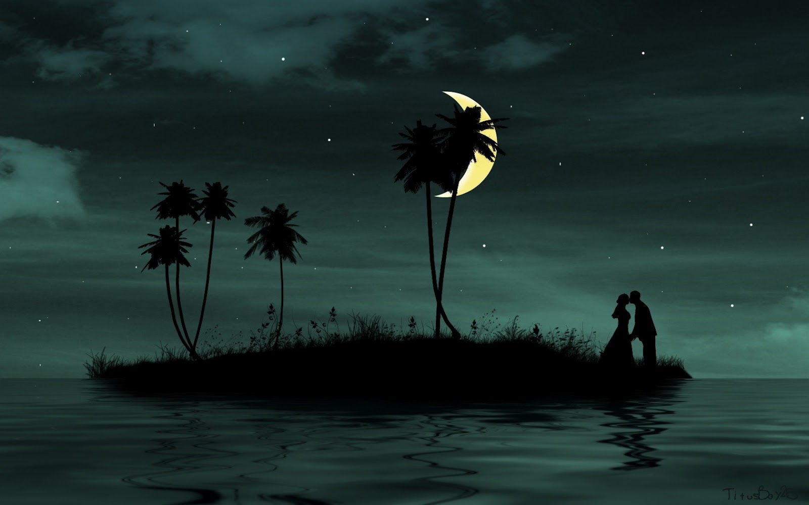 enamorados pareja isla