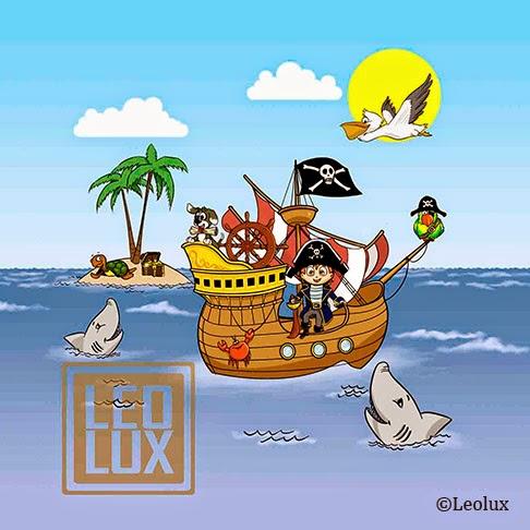barco pirata niño ilustracion