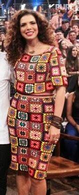 Os Squares coloridos da roupa da Vanessa da Mata