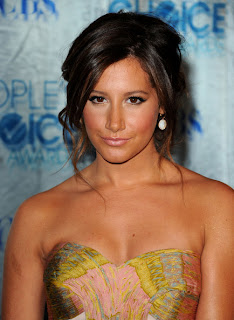 Ashley Tisdale Messy Low Bun Hairstyle