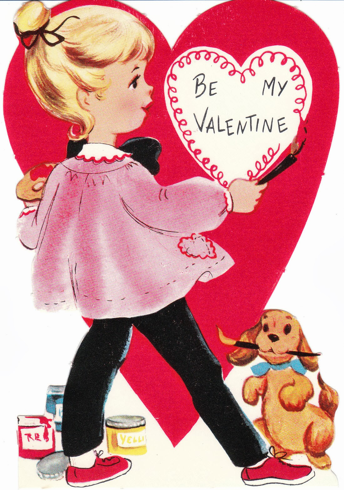 mamasVIB | V. I. BUSY BEES: HAPPY VALENTINE'S DAY! ❤ ❤ ❤ | HAPPY VALENTINE'S DAY! | mamasVIB | valentines day | vintage valentines card