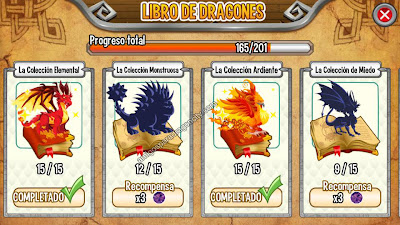imagen de las colecciones del libro de dragones de dragon city ios_2