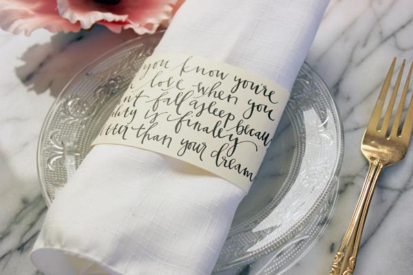 wedding napkin ring ideas Wedding Decor Ideas