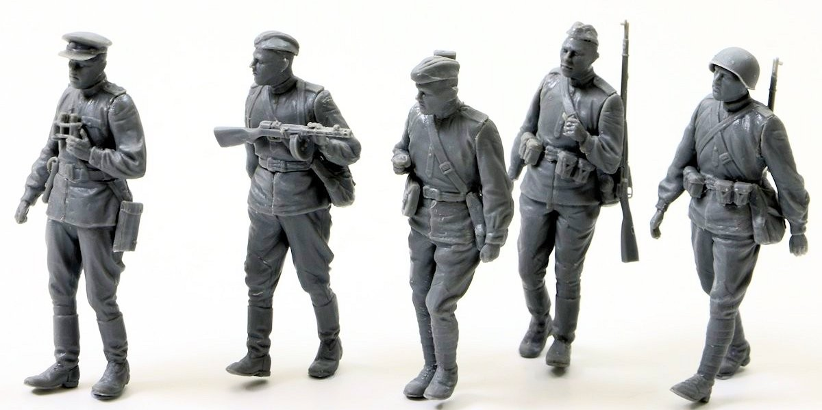 "Build review: MiniArt's new #35108 ""Soviet Infantry"" set."