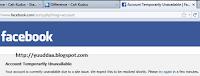 Solusi Facebook - Account Temporarily Unavailable