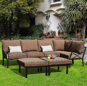 We Went With The Most Affordable Sectional Option From Walmart, The  Sandhill Sectional: