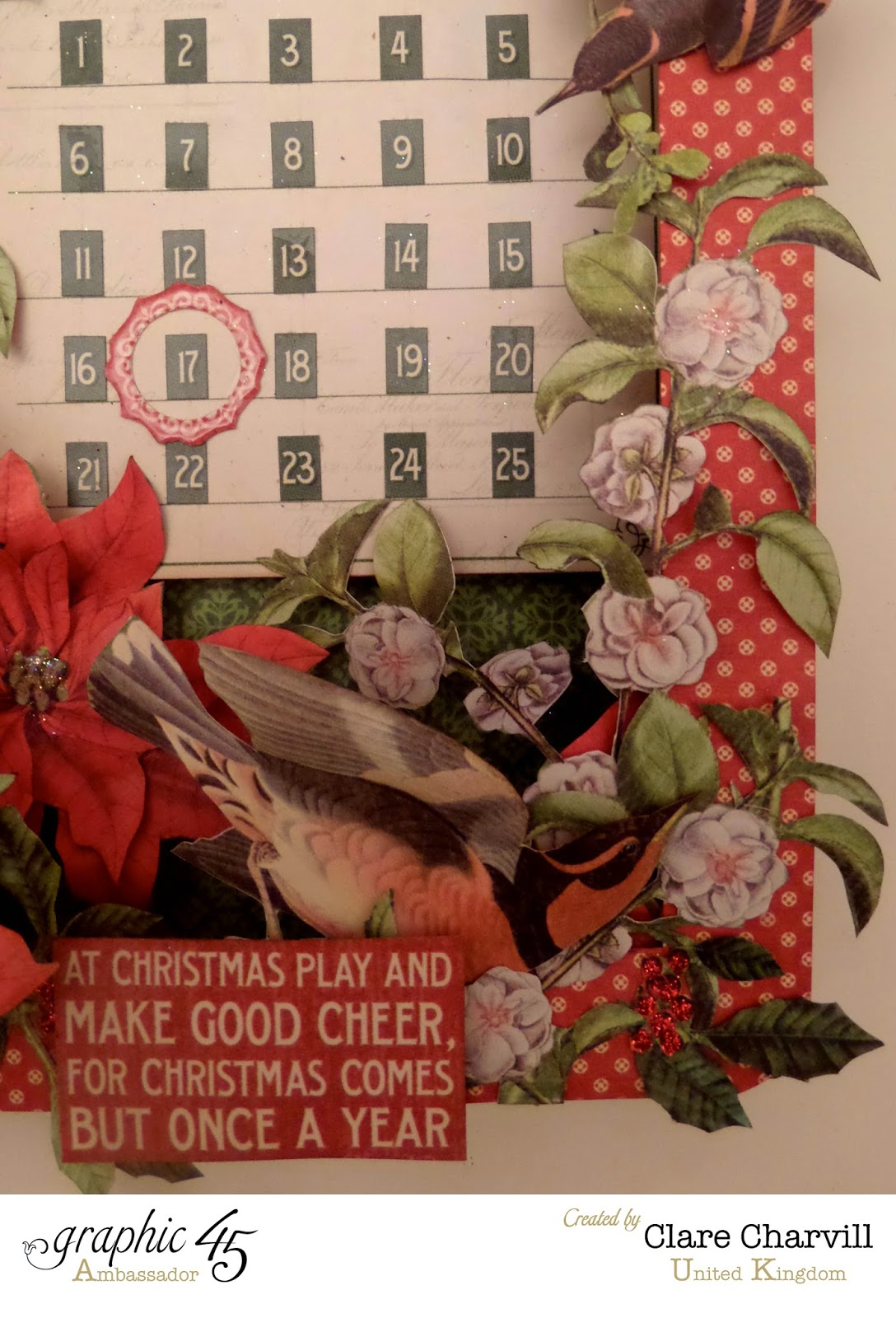 Time to Flourish Countdown to Christmas Advent Calendar  8 Clare Charvill Graphic 45