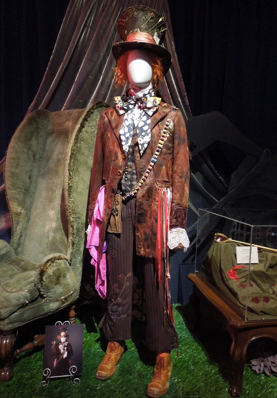Original costumes and props from Tim Burton's Alice in ...  Mad