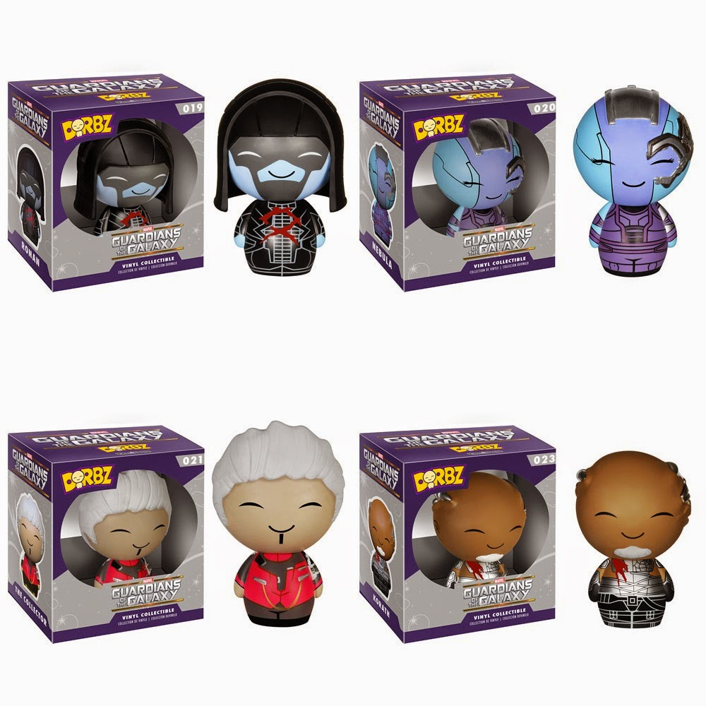 Guardians of the Galaxy Dorbz Vinyl Figure Series by Funko - Ronan, Nebula, The Collector & Korath