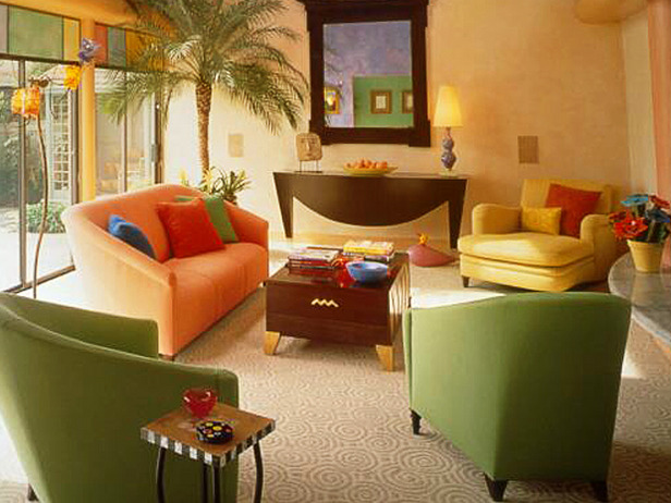 Living Room Color Schemes Red And Yellow (6 Image)