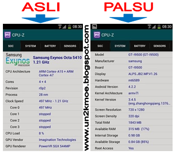 Cara Membedakan HP Samsung Galaxy Android Asli atau Palsu
