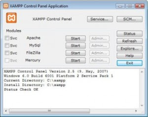 Buka aplikasi server XAMPP