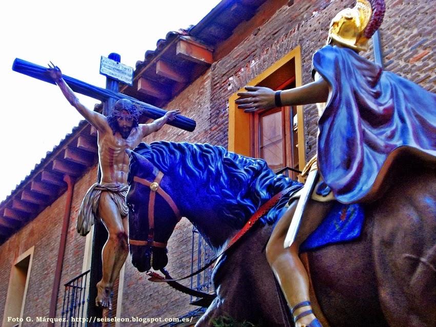 Paso de misterio de la Sagrada Lanzada. Cofradía de Nuestra Señora de las Angustias y Soledad. León. Foto G. Márquez.