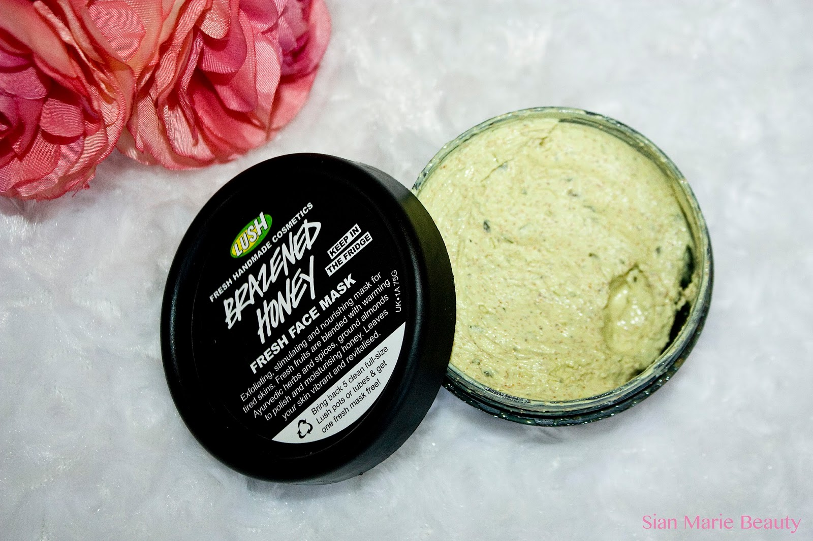 Lush Brazened Honey Brightening Face Mask
