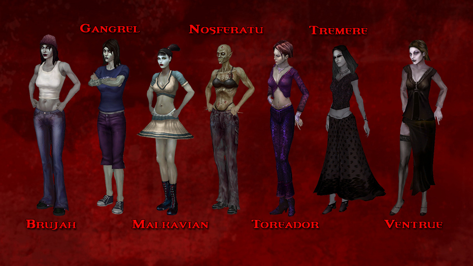 Vampire the masquerade backgrounds