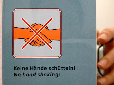 No hand shaking